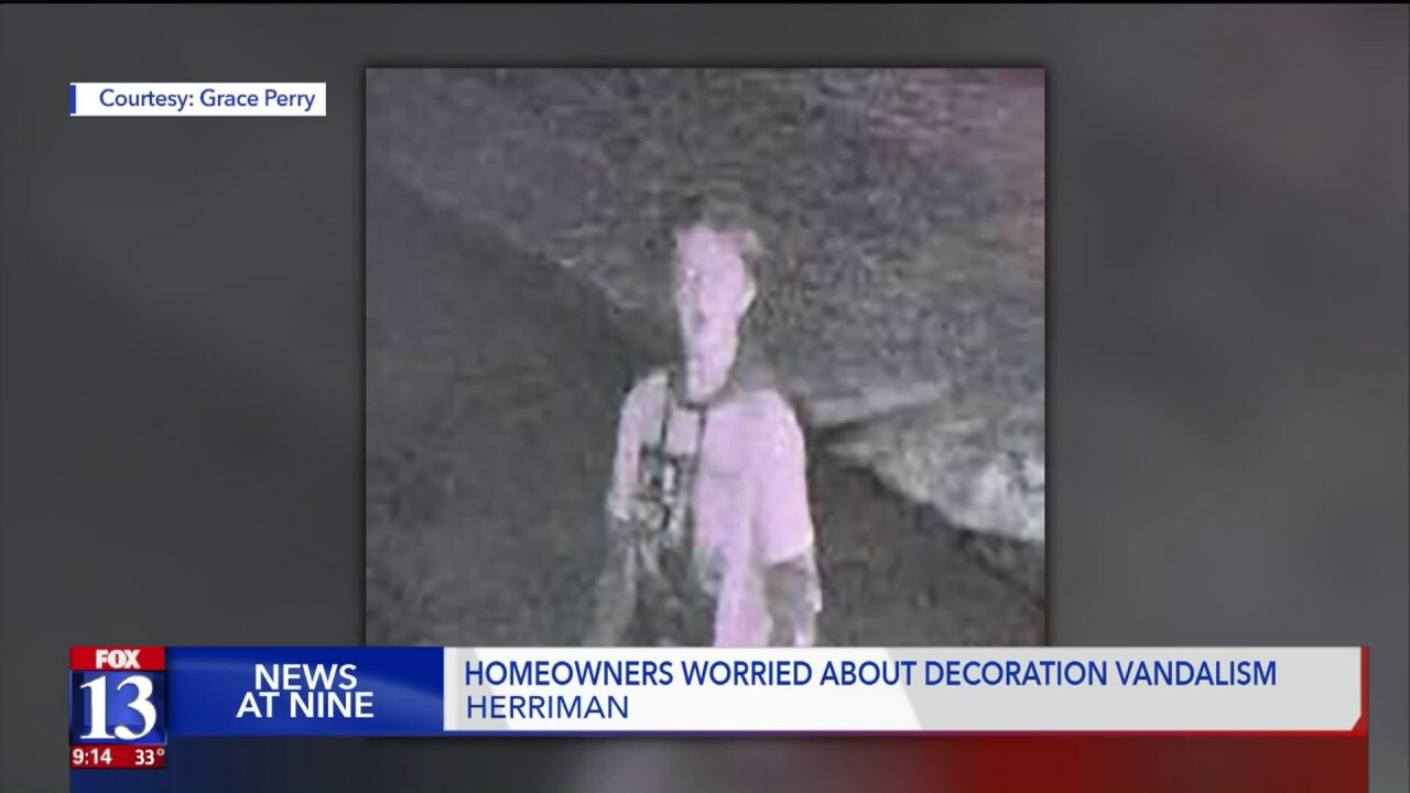 Police seek group of juveniles allegedly vandalizing, stealing holiday decorations in Herriman