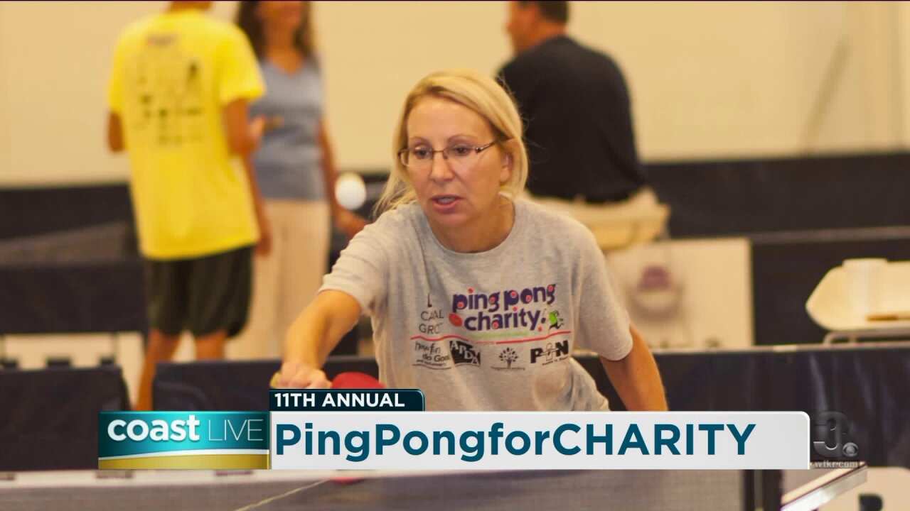 Practicing our skills to prep for PingPongforCHARITY and SlamFEST on CoastLive