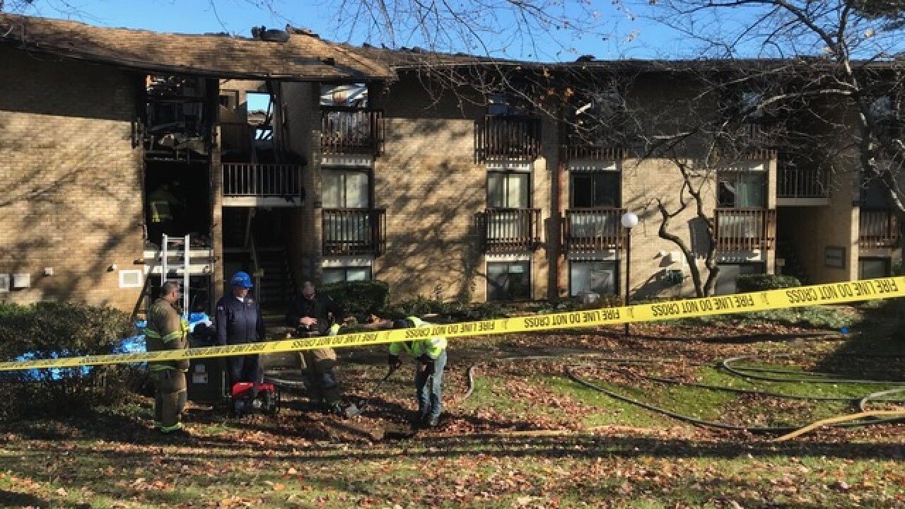 Overnight fire damages apartment complex