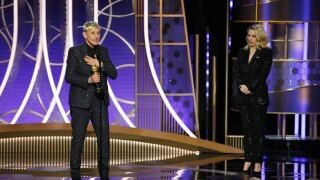 Ellen DeGeneres accepts an award