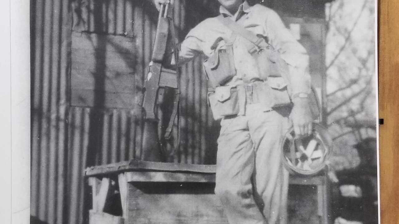 Julian Wills on Sand Island 1942