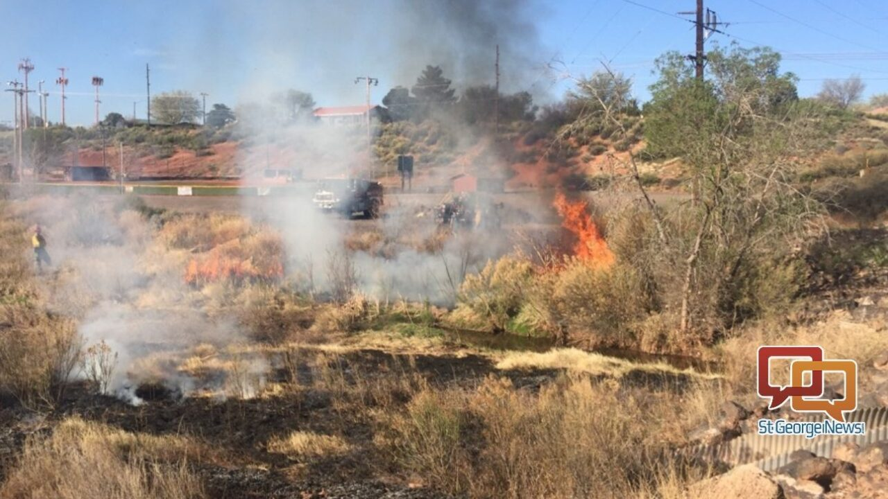 Firefighters conduct controlled burn near high school in St. George