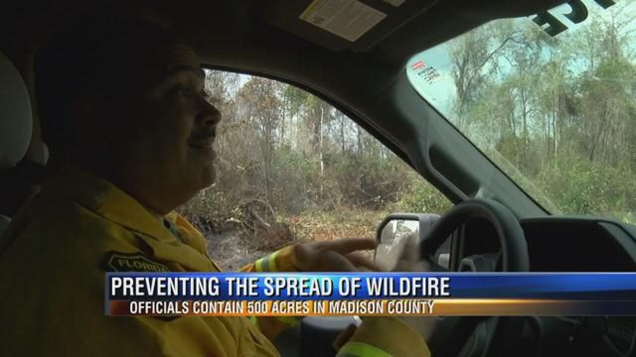 Florida Forest Service Battles 500 Acre Wildfire in Madison County