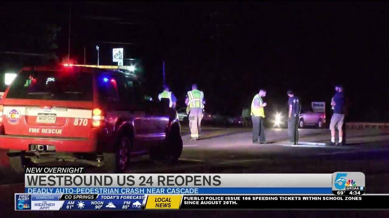 1 person killed in auto-pedestrian crash on Highway 24