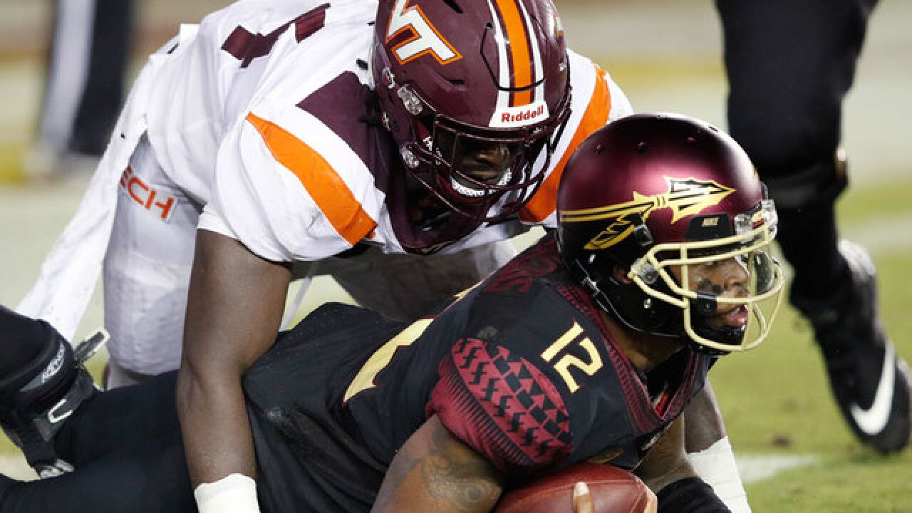 Virginia Tech dominates Florida State 24-3 in coach Willie Taggart's debut