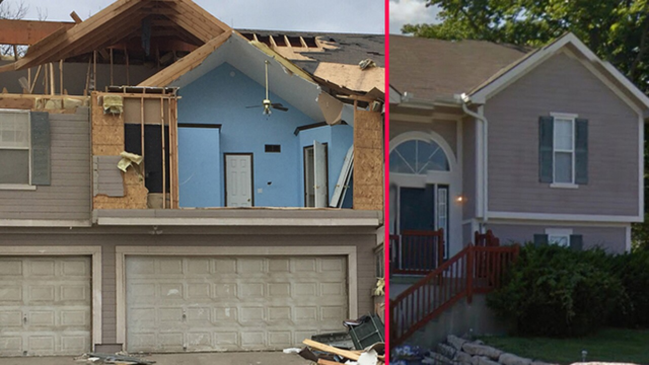 Before and after: Tornado damages homes in Oak Grove