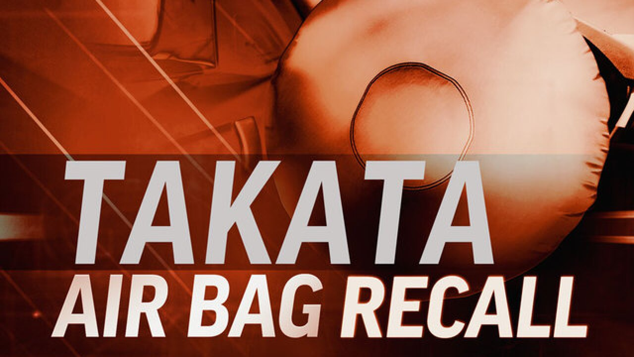 Takata Airbag Recall: Check to see if your vehicle is impacted