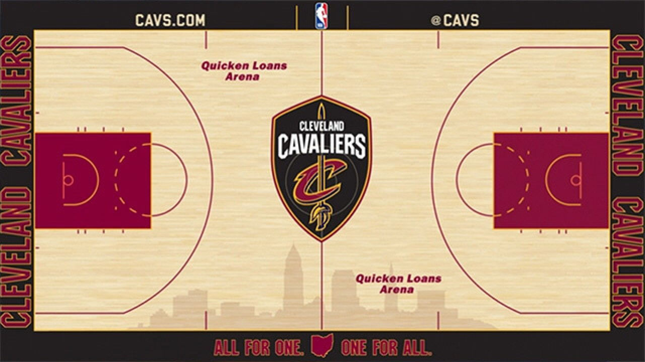 d2027888b PHOTOS  Cavaliers unveil new home court design with new logo