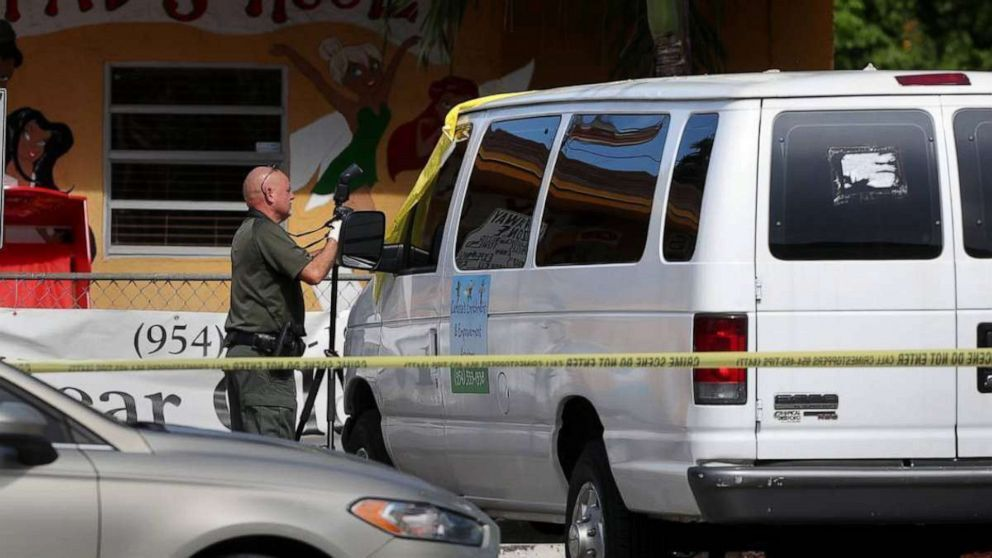 The body of 2-yr-old Noah Sneed is transported to the Broward County coroner's office, July 30, 2019, in Broward, Fla. (Carline Jean/South Florida Sun Sentinel/TNS via Newscom).
