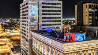 Messages of hope light up downtown Phoenix hotel