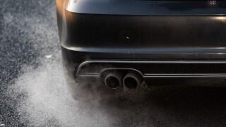 car emits exhaust fumes