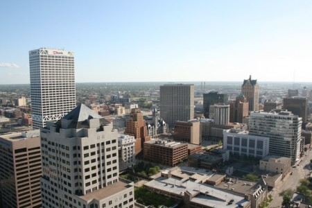 Overview of downtown Milwaukee
