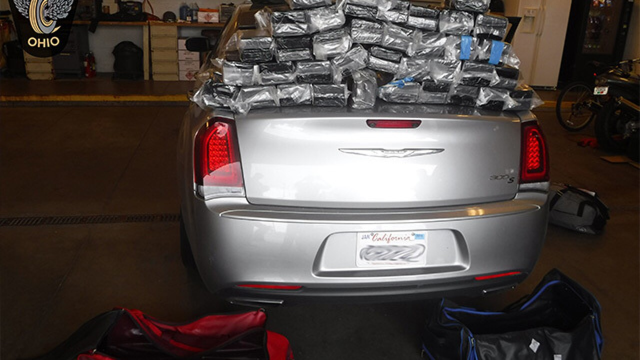 Ohio troopers find 165 pounds of cocaine worth millions during traffic stop