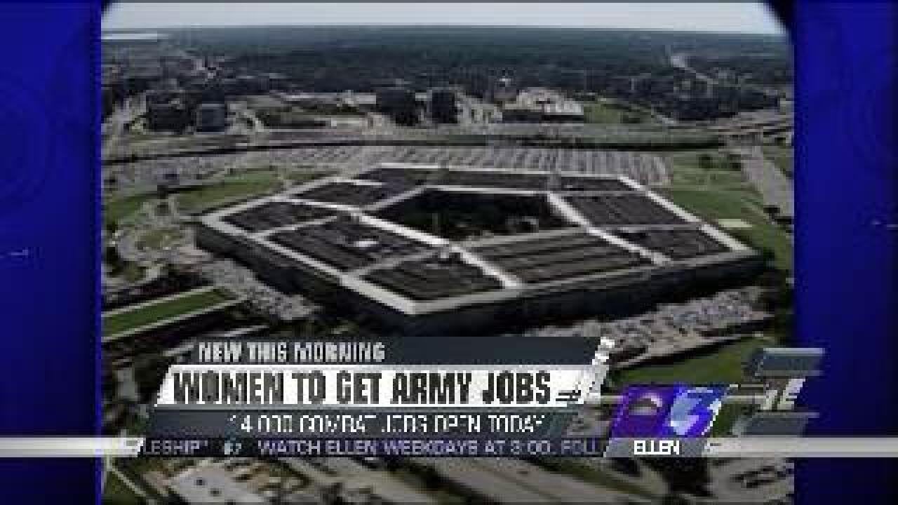 Pentagon opening more than 14,000 combat-related roles to women