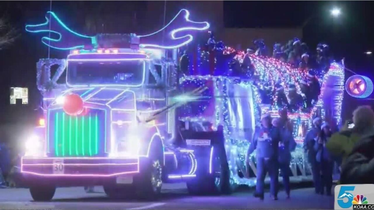 Parade of Lights in Pueblo