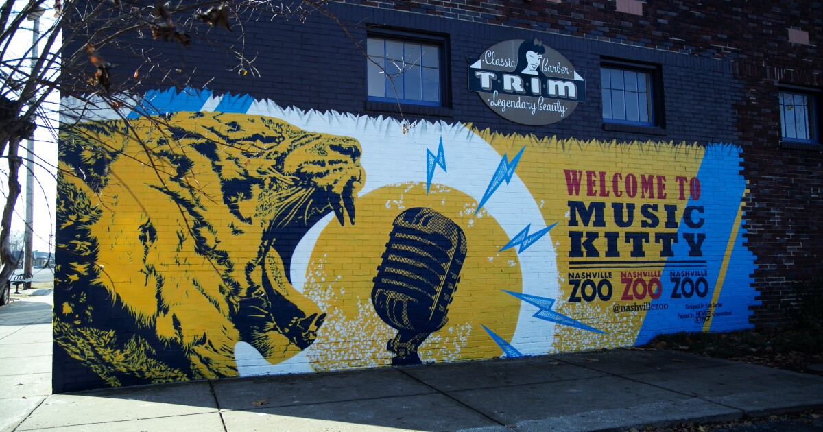 Nashville Zoo unveils new 'Music Kitty' mural along 12 South - NewsChannel5.com