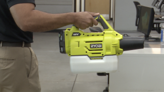 Ryobi Fogger disinfect classrooms in Rose Academy Charter Schools