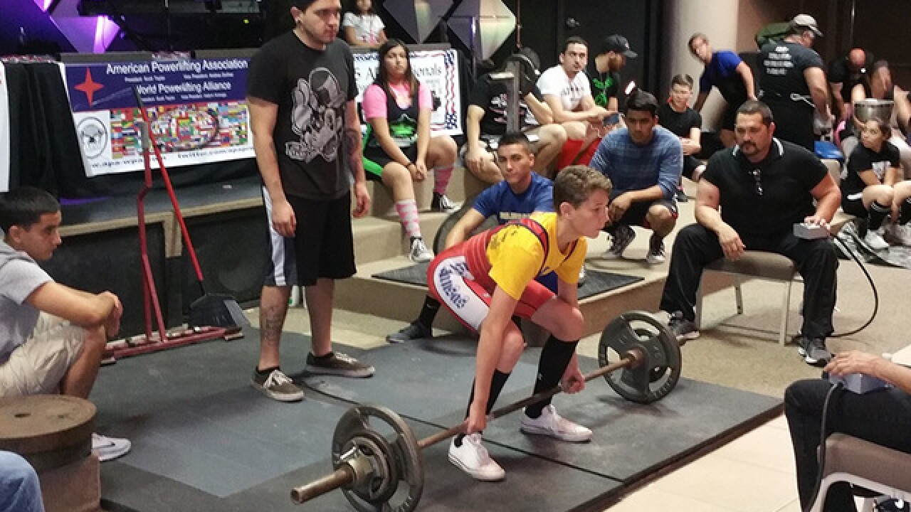 12-yo PV boy breaks powerlifting records