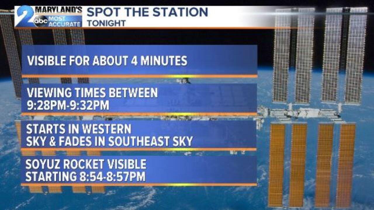 SPOT THE STATION & ROCKET?