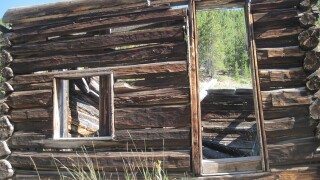 Colorado ghost towns: Independence mining town on Independence Pass, near Aspen