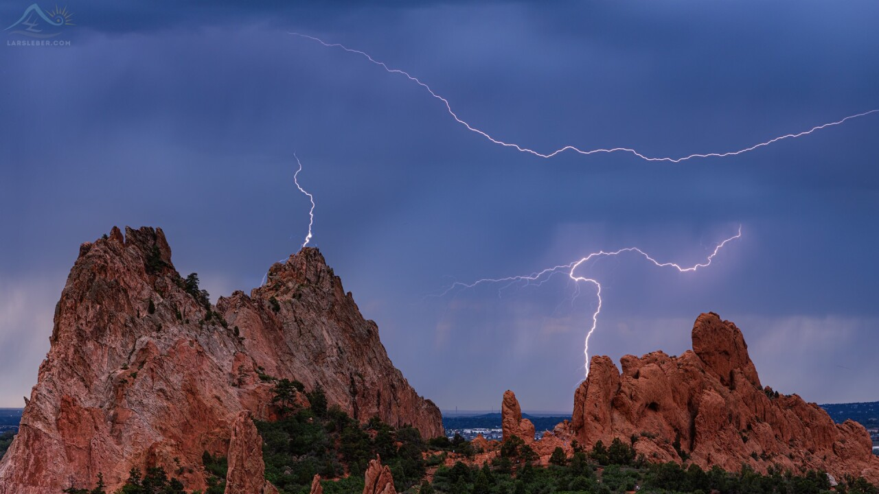 Garden of the Gods Lightning Storm