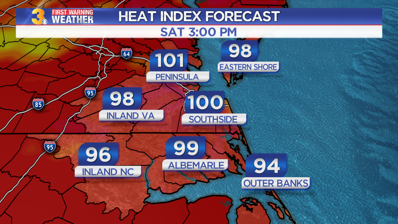Friday's First Warning Forecast: Feeling like the triple digits this weekend