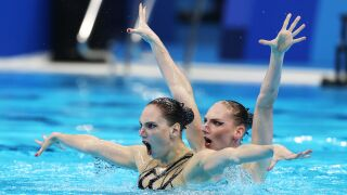 Svetlana Romashinacaptures historic sixth Olympic gold in artistic swimming
