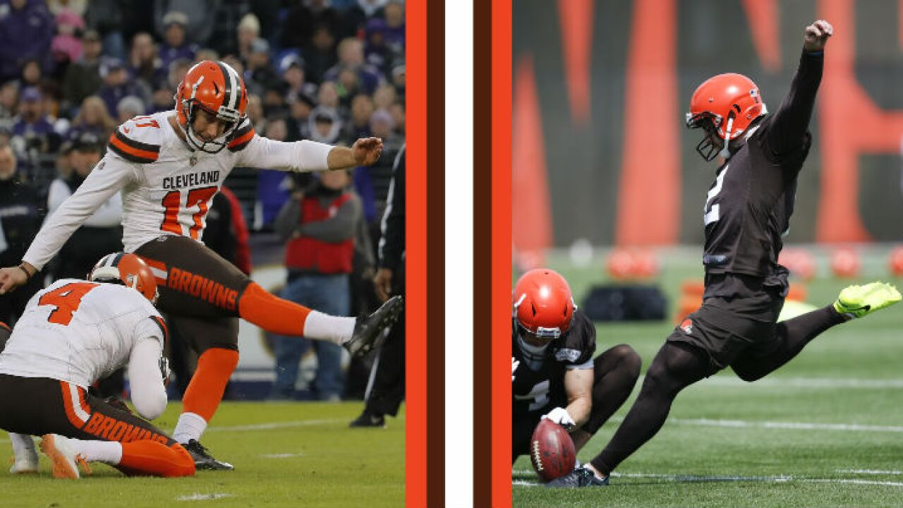 Browns battle of the kicker
