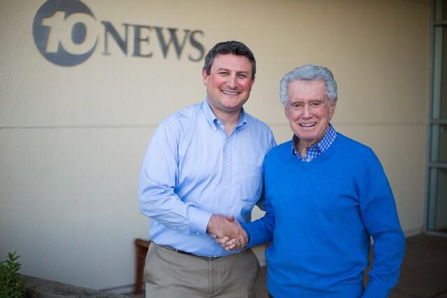 GALLERY: Former 10News Anchor Regis Philbin meets the 10News crew