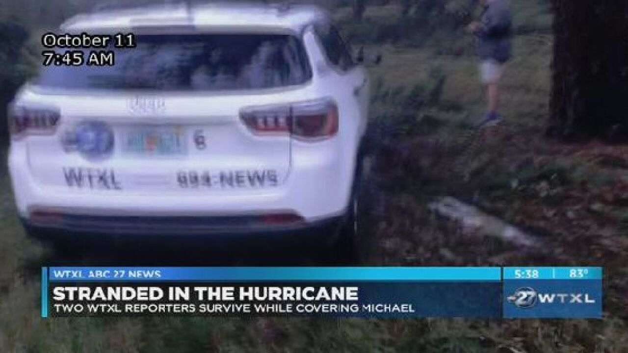 Stranded in the Hurricane: Two WTXL reporters survive while covering Michael