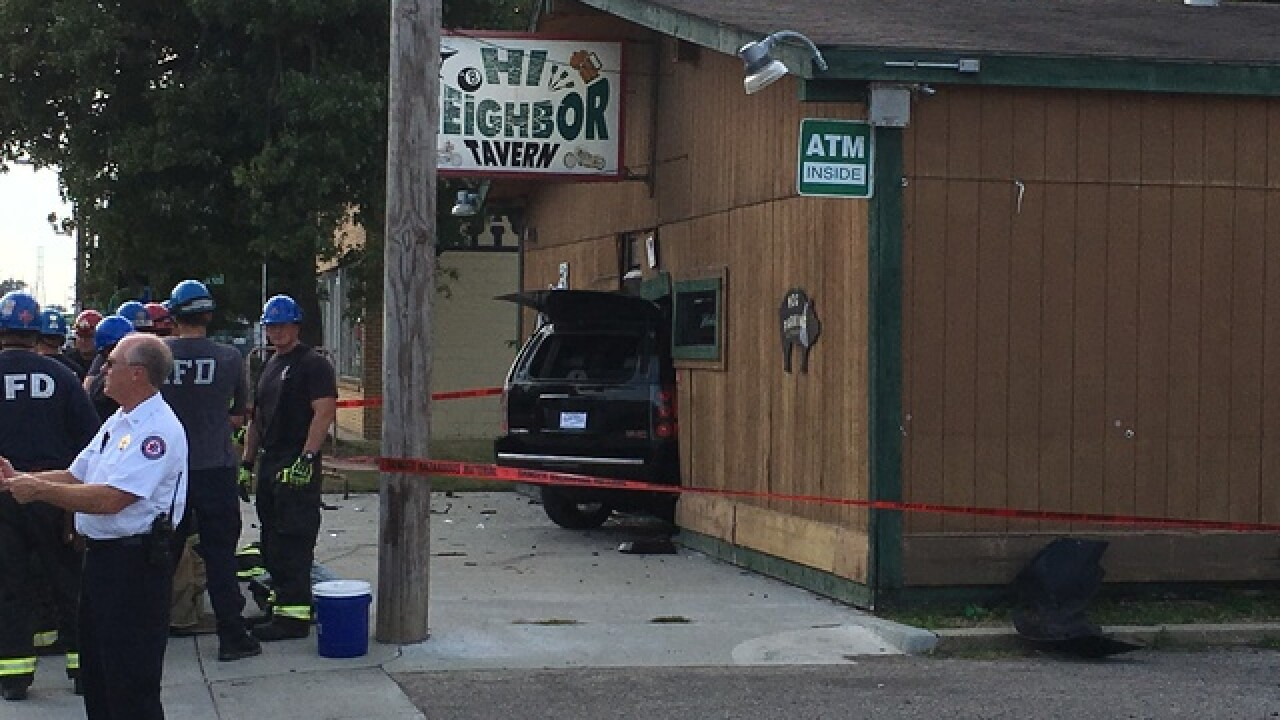 SUV crashes into tavern on Indy's west side