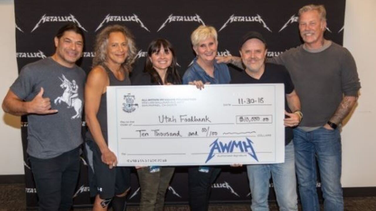 Metallica donates thousands to Utah Food Bank following record-breaking show