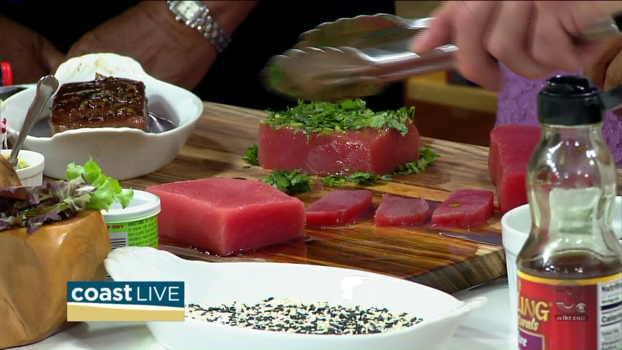 A tasty lesson in preparing tuna gets us in a party mood on CoastLive