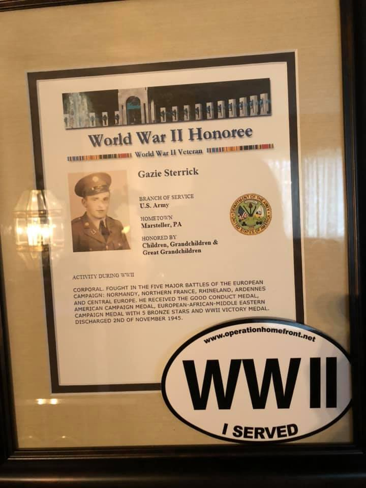 City of Parma recognizes veteran who turned 100 years old.