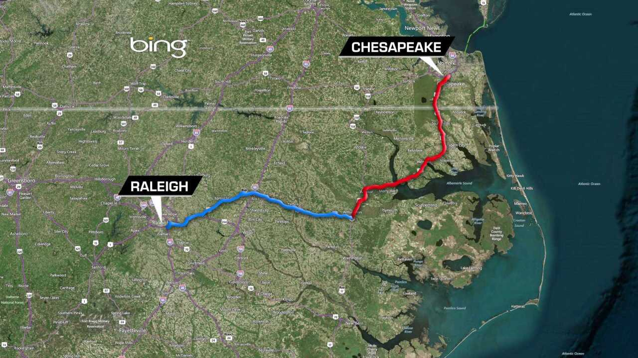 Bills being considered in Congress that would provide direct route from Hampton Roads to Raleigh