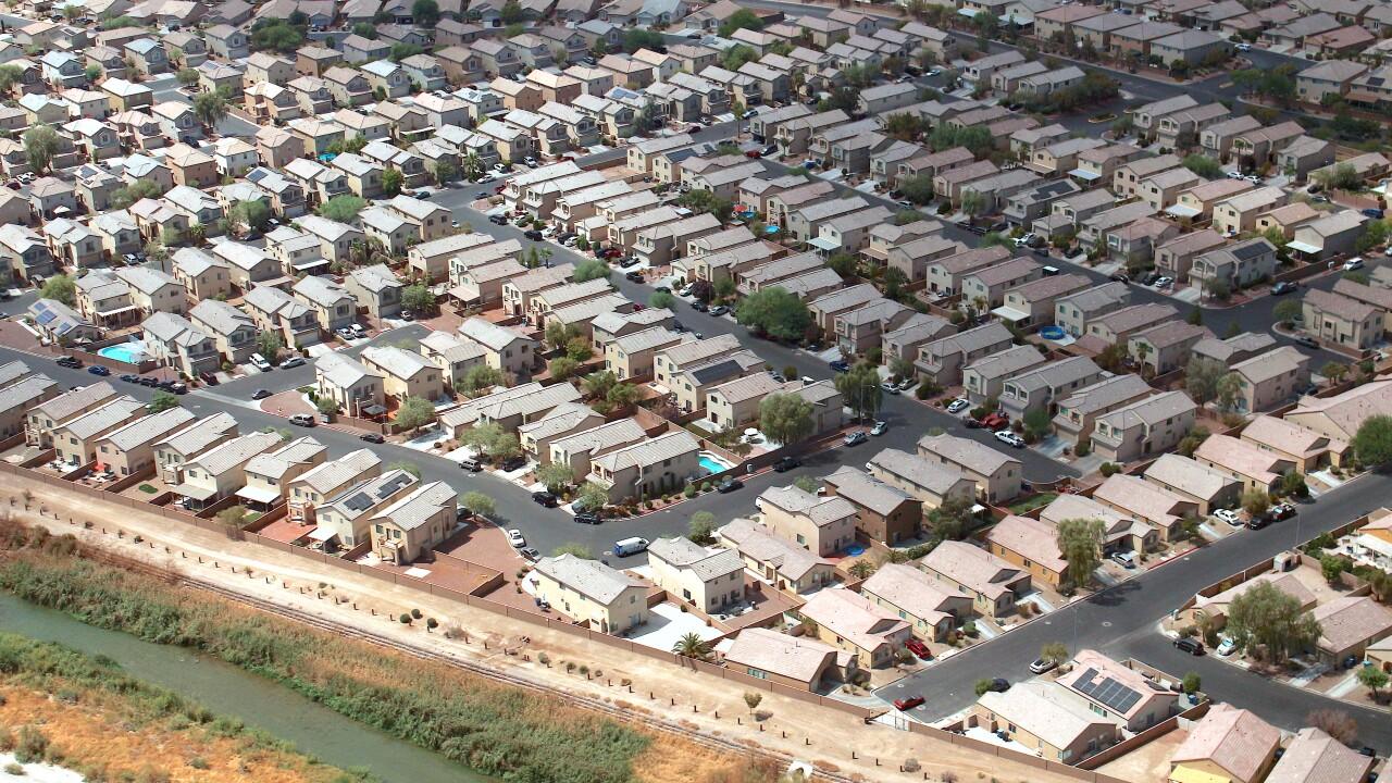 Las Vegas Homes aerial view