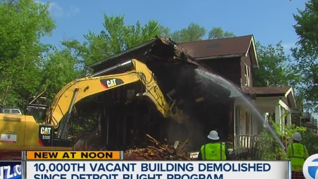 Detroit's 10,000th vacant building demolished