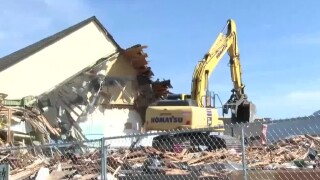 Out with the old, in with the new: Butte's old airport terminal torn down