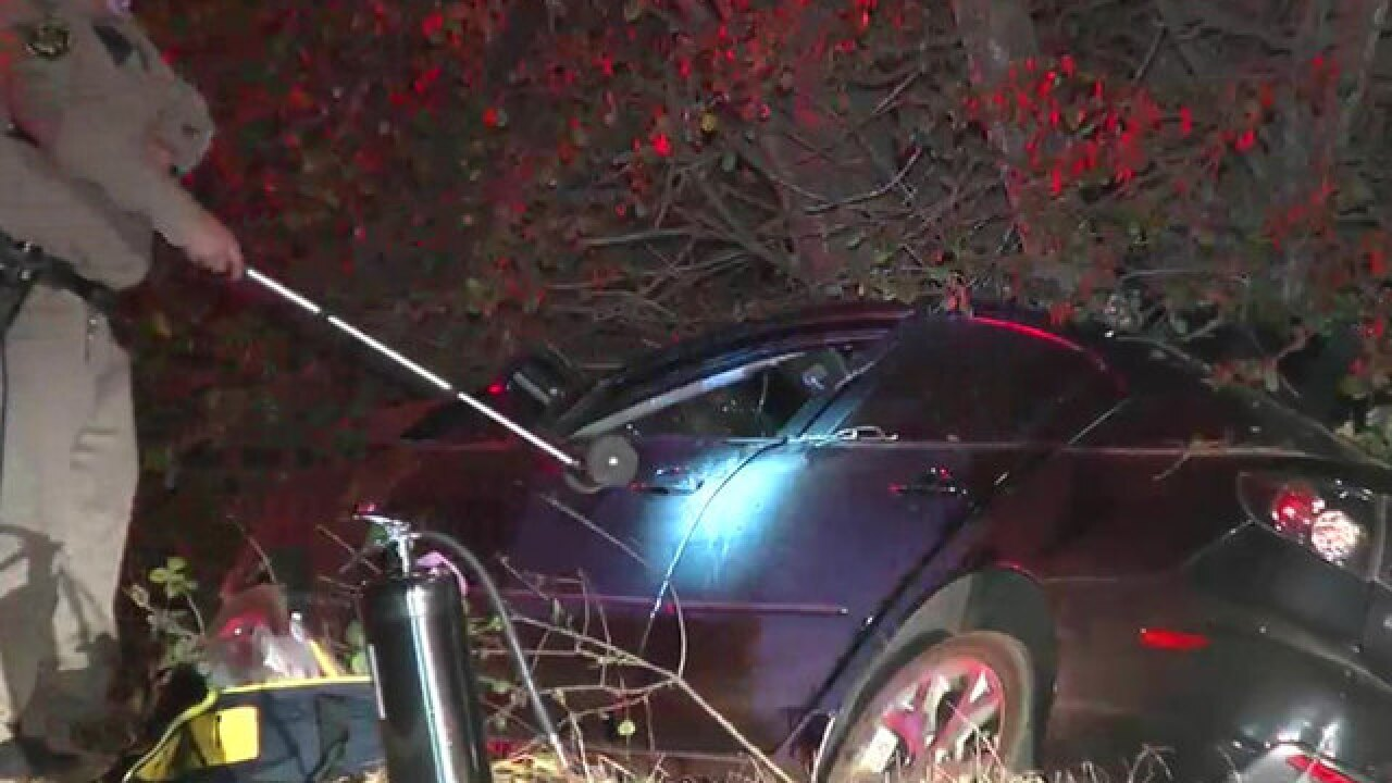 Man killed after car crashes into tree in Escondido