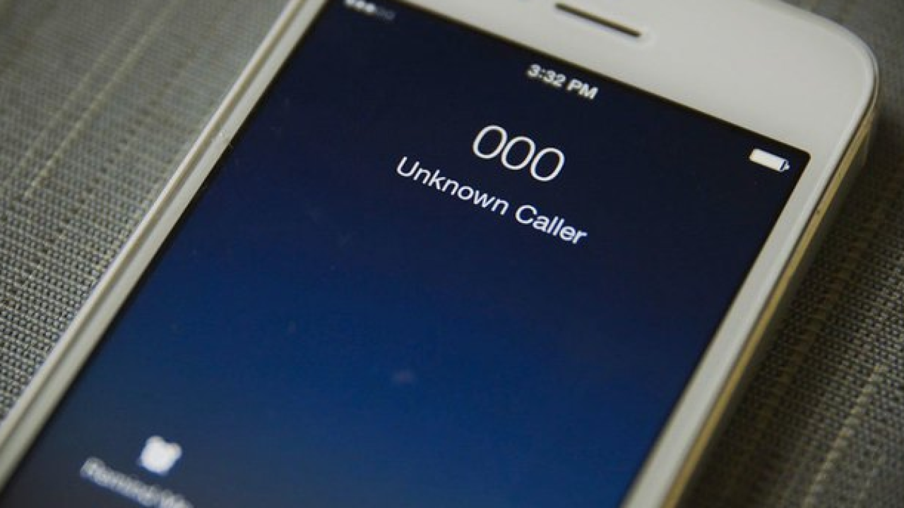 Unknown caller robocall