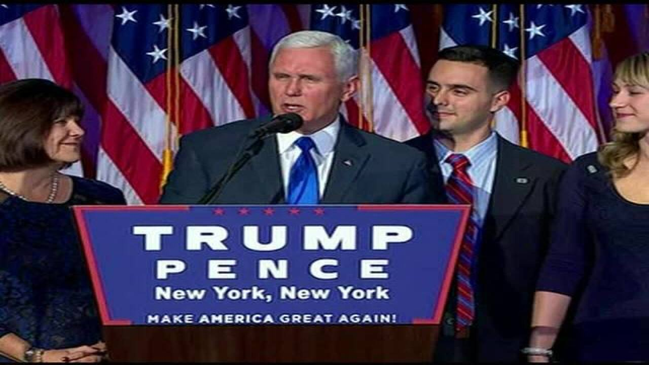 Vice President-elect, Governor Mike Pence, welcomed home to Indiana