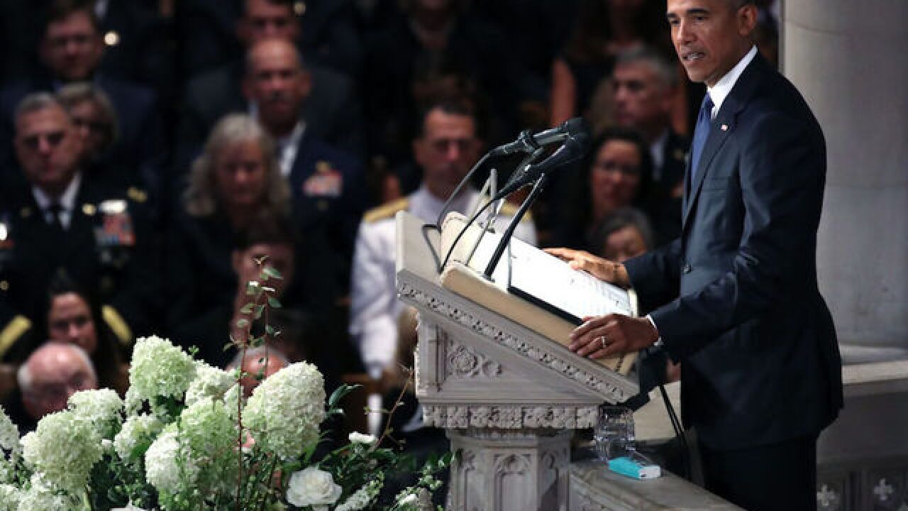 Obama: McCain called on America to rise above 'mean and petty' politics