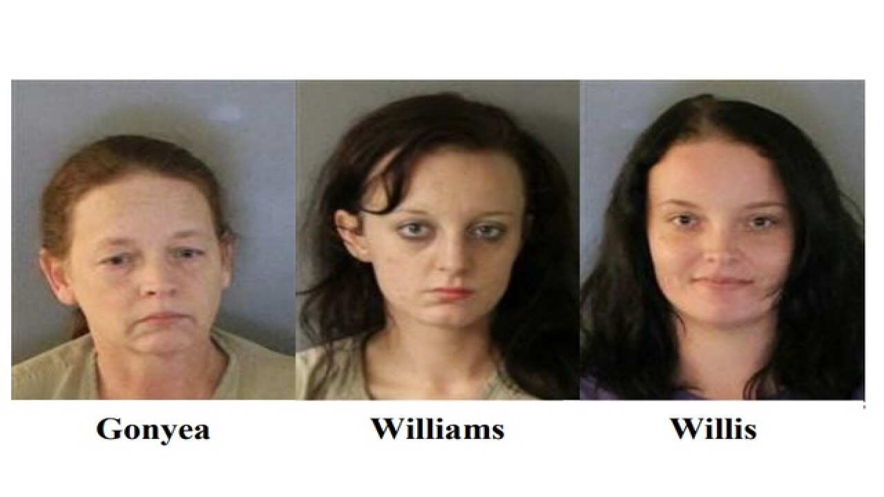 Mother, daughters facing numerous drug charges