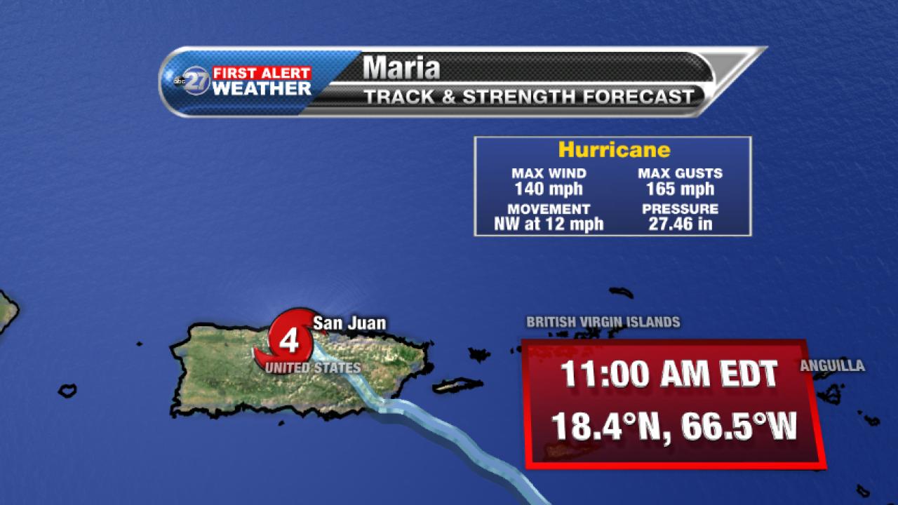 Hurricane Maria Advisory (11am 09/20/2017)