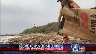 Sandy Hoot spent five hours cleaning up Ropes Park