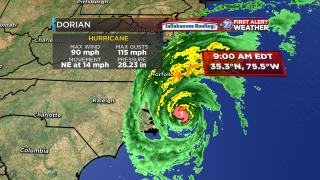 Dorian, now Category 1, makes landfall on North Carolina's east coast
