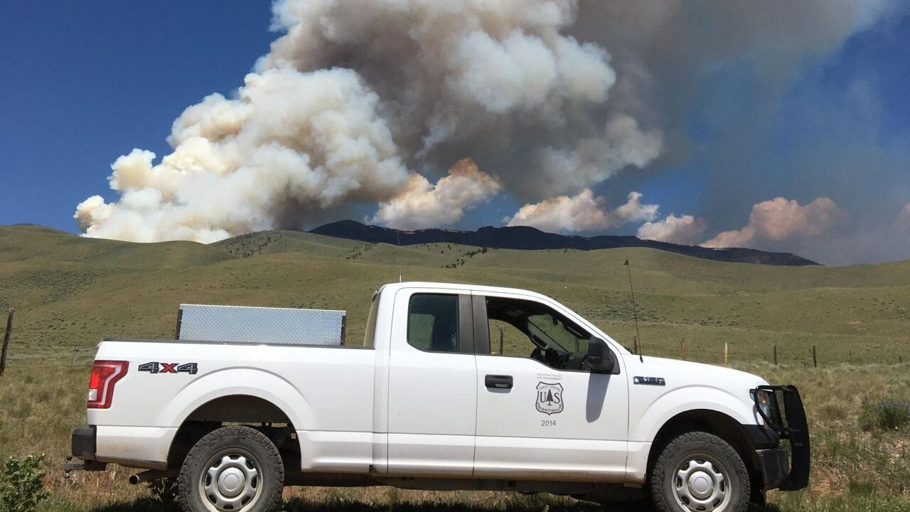 Robertson Draw Fire south of Red Lodge