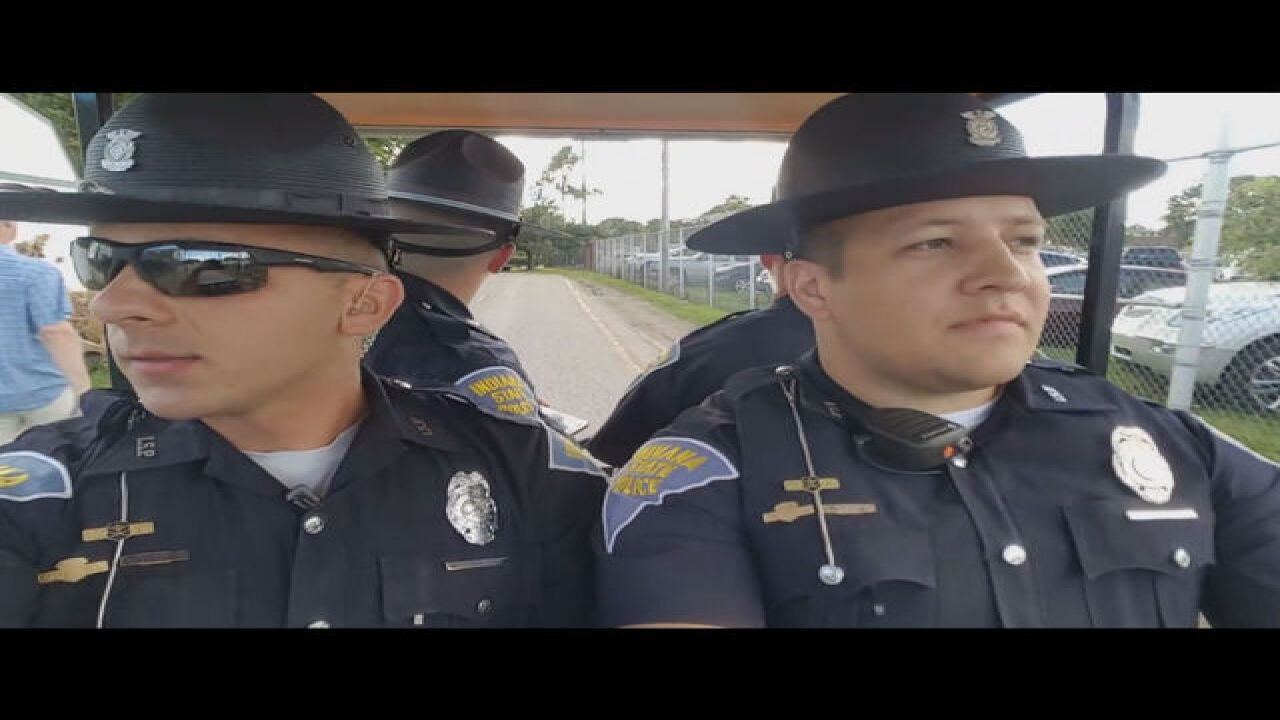 Indiana State Troopers lip sync to 'Summer Nights'