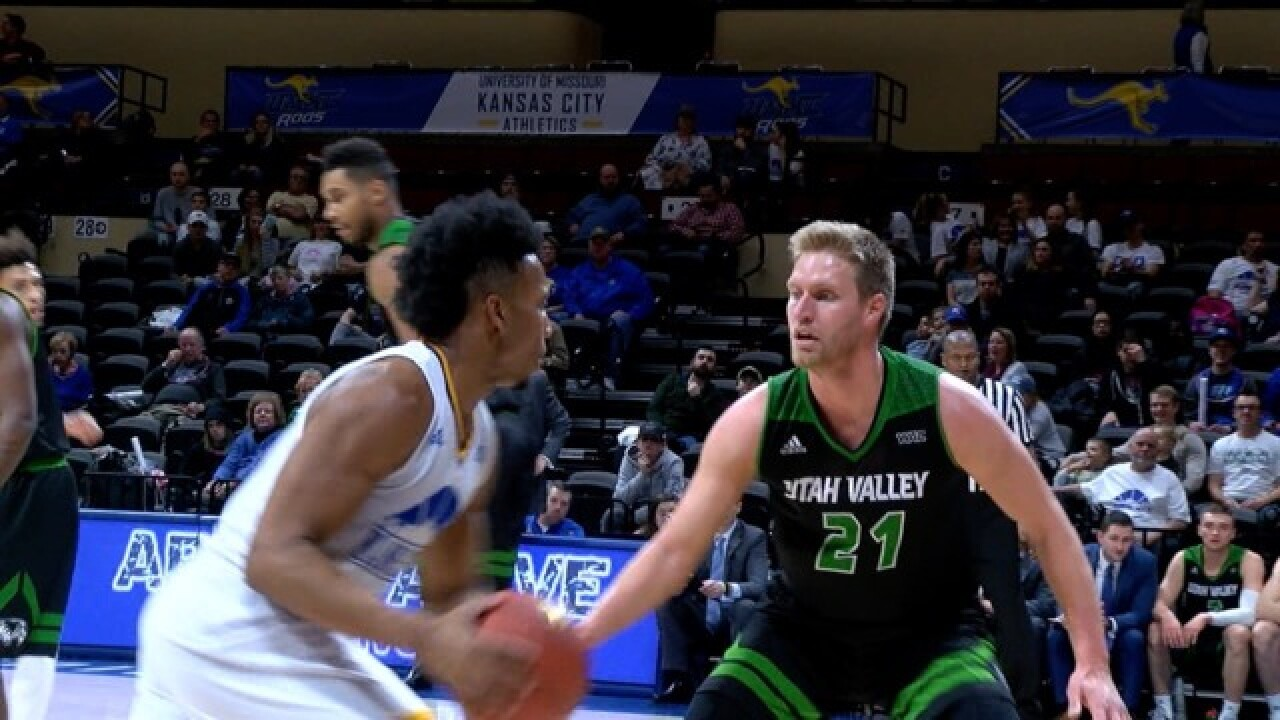 Giles, Robinson lead UMKC past Utah Valley 77-70