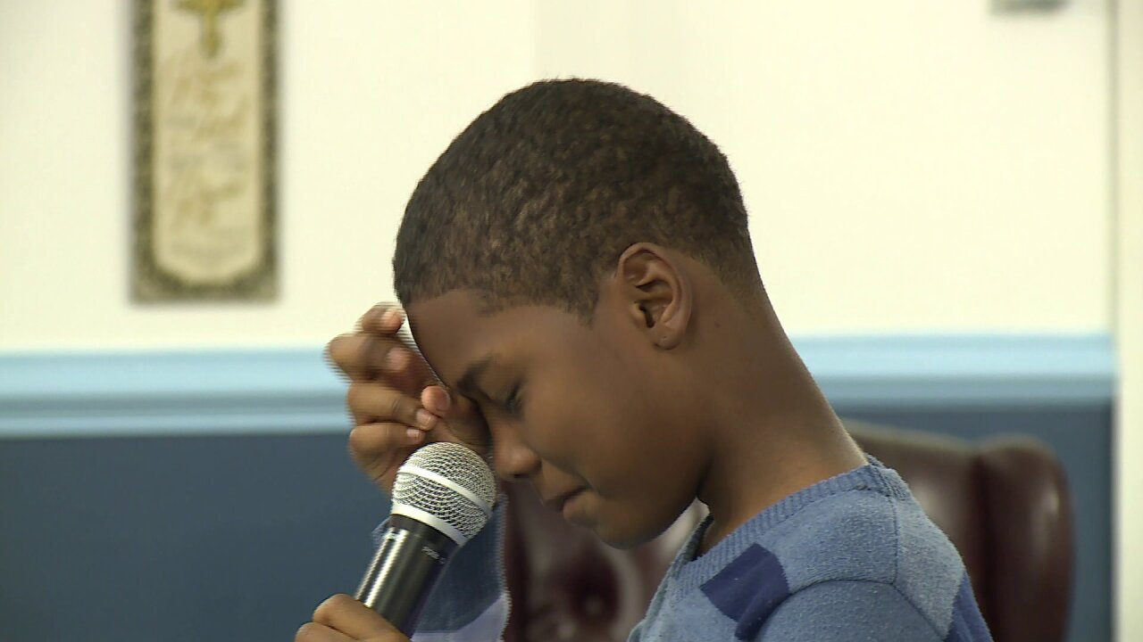 Boy brought to tears during plea to community: 'Stop theviolence'